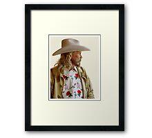 ALAN BAKER - AS BUFFALO BILL CODY Framed Print