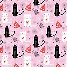 pattern of white and black cats by Tanor