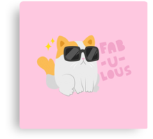 Fab-u-lous Kitty Canvas Print
