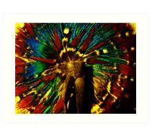 Feather Hair Tie  Art Print