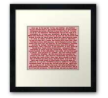 100 Ways To Say I love You  Framed Print