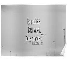 explore Mark Twain Poster