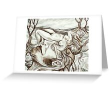 I Kiss the Ground Where She Dreams (Drawing)- Greeting Card