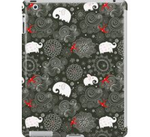 pattern of elephants and clouds iPad Case/Skin