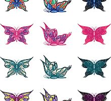 Colored butterflies 3 by AnnArtshock