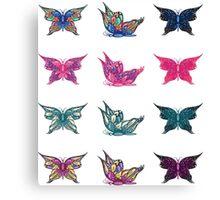 Colored butterflies 3 Canvas Print