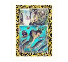 tropical fantasia - mermaid's outing Art Print