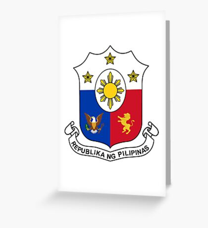 Philippines Shield Greeting Card