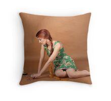 The Seamstress Throw Pillow