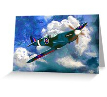 Supermarine Spitfire WWII Greeting Card
