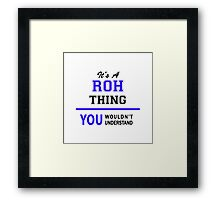 It's a ROH thing, you wouldn't understand !! Framed Print