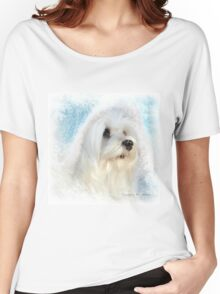 Snowdrop the Maltese  Women's Relaxed Fit T-Shirt