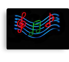 Musical Neon Canvas Print