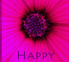 passionate Pink Happy Birthday Card by TLCGraphics