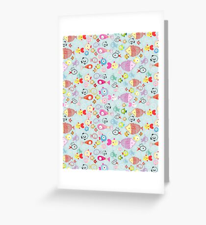 pattern of colorful fish Greeting Card
