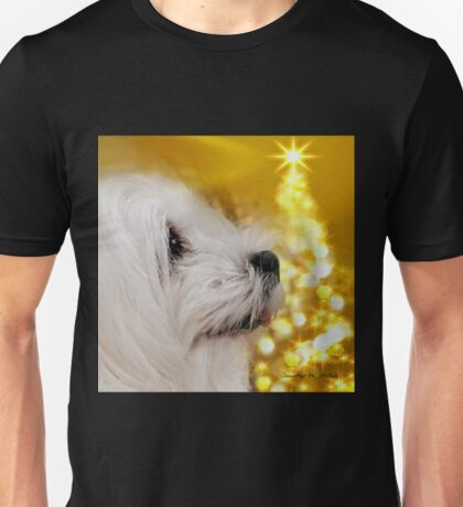 Snowdrop the Maltese - Joy to the World ! Unisex T-Shirt