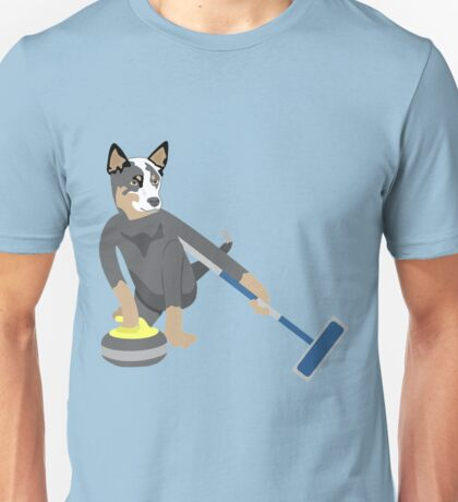 Australian Cattle Dog Olympic Curling Unisex T-Shirt