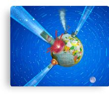 Comet impacts Earth Canvas Print