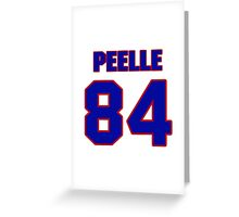 National football player Justin Peelle jersey 84 Greeting Card