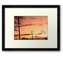 Sunset - Tomahawk  Framed Print