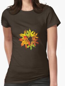 maple ring Womens Fitted T-Shirt