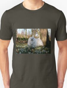 Snowdrop the Maltese -  in the Snowdrop Woods T-Shirt