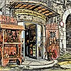 Italian Curio Shop by Warren. A. Williams