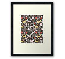 pattern of cat lovers Framed Print
