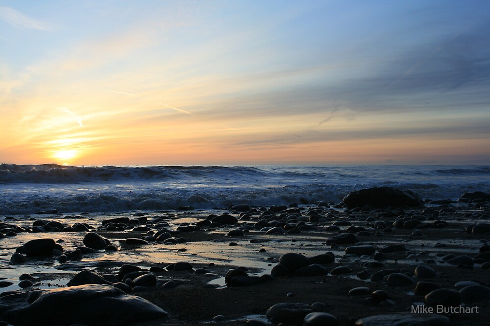Sunset at Southerndown by Mike Butchart