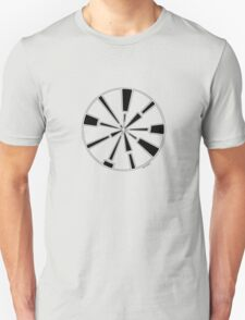 Mandala 6 Back In Black Unisex T-Shirt