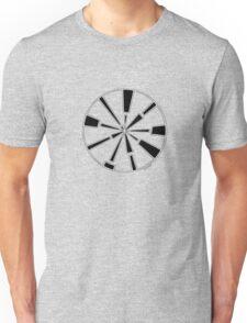 Mandala 6 Back In Black Unisex T-Shirt
