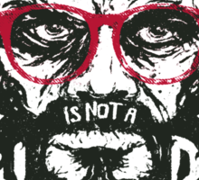 Hipster Trevor with glasses Sticker