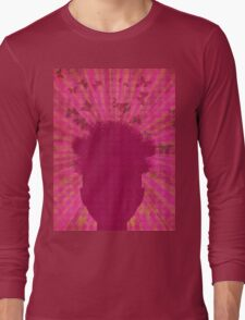 Surreal Head with Butterflies Long Sleeve T-Shirt