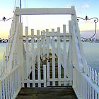 Private Dock Gate with Fleur-de-Lys Accents by confections