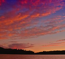 Sunset Over Lake Jenkinson by Karin  Hildebrand Lau