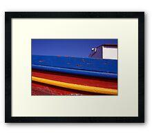 Greece. Colourful Fishing Boat Framed Print