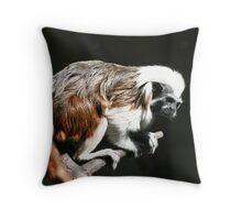 dark tamarin Throw Pillow