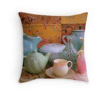 Collectibles Collage Throw Pillow