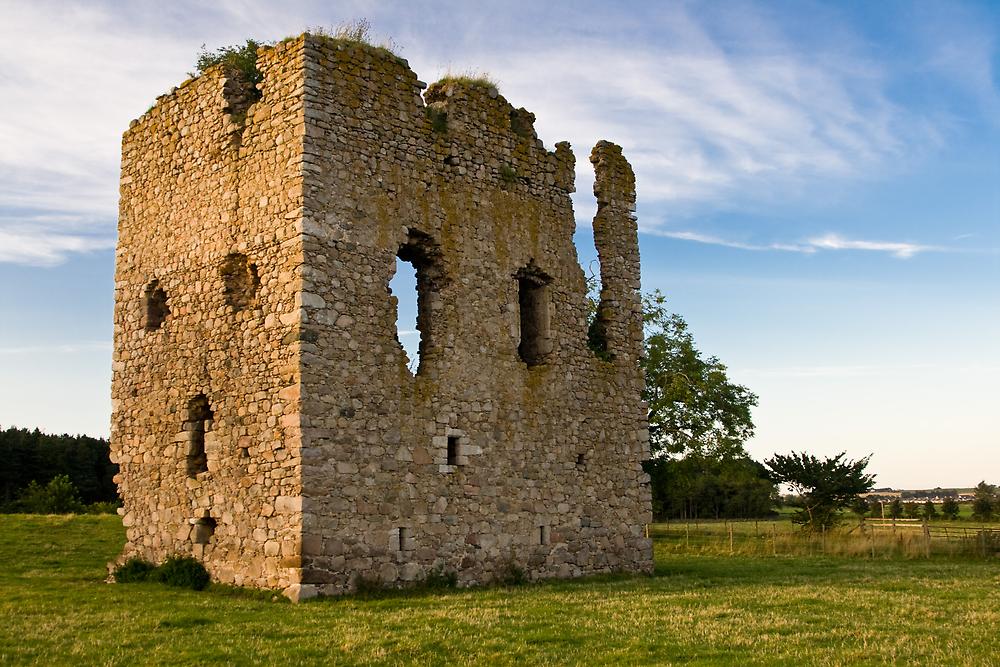 Hallforest Castle in Kintore, Aberdeenshire, Scotland by John Stewart