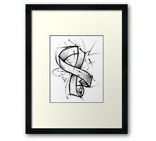 Awareness Ribbon Framed Print