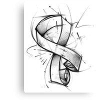 Awareness Ribbon Metal Print