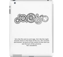 Name of the Doctor and quote iPad Case/Skin