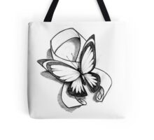 Butterfly Ribbon  Tote Bag