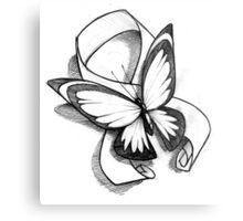 Butterfly Ribbon  Metal Print
