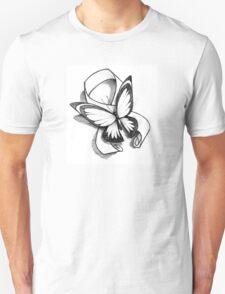 Butterfly Ribbon  Unisex T-Shirt