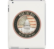 Read The Bill iPad Case/Skin