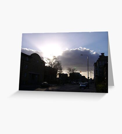 Evening traffic Greeting Card