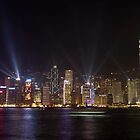 Hong Kong Laser Show by Daniel Chanisheff
