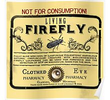 Living Firefly - Steampunk Apothecary Label Poster