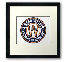 A Hero Within - baseball logo Framed Print